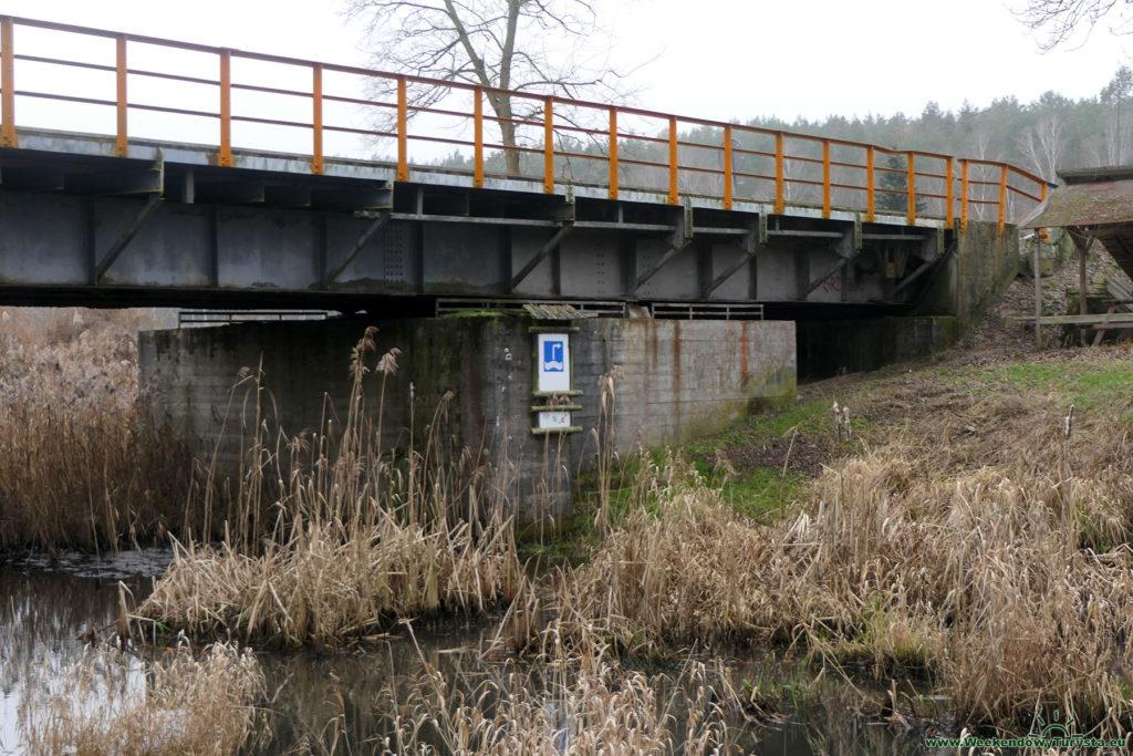 Międzyrzecki rejon Umocniony - Most obrotowy na rzece Jeziorna