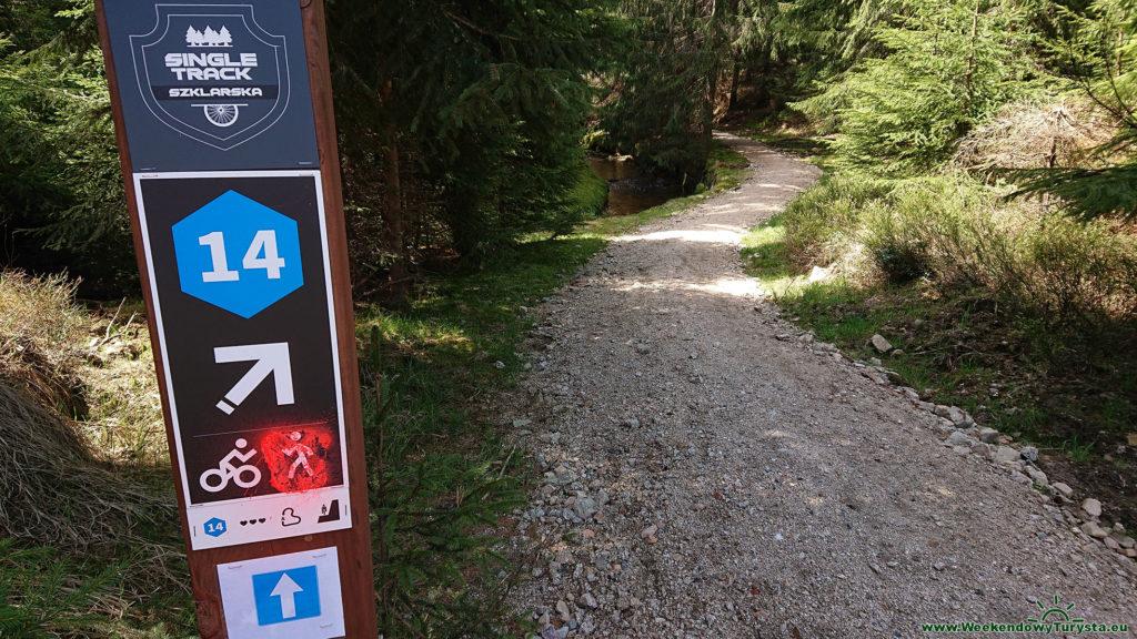 Single track Szklarska - wjazd na pierwszy odcinek